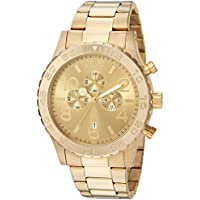 Invicta Mens 1270 18k Gold Ion-Plated Stainless Steel Watch Deals