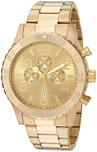 Invicta Men's Specialty Gold Tone Stainless Steel Quartz Chronograph Watch, Gold (Model: 1270)
