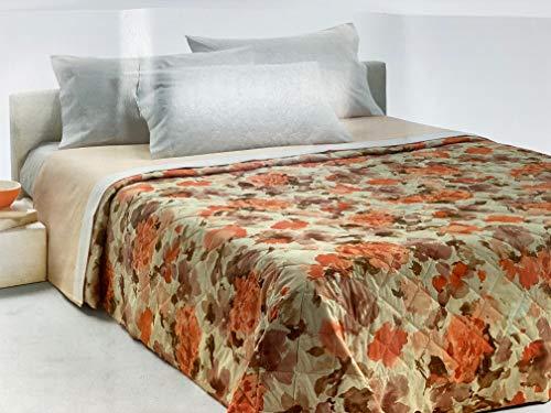 Vallesusa Colcha acolchada para cama individual Peso primaveral 120 gr/m2 de mordeba microfibra hipoalergénica Art. NINFA 170 x 260 cm (Topacio)