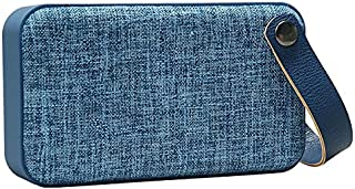 Bluetooth Wireless Stereo Speaker, Beautiful Linen Pattern ABS Material Speaker with Built-in Amplifier Covered with Fabri...