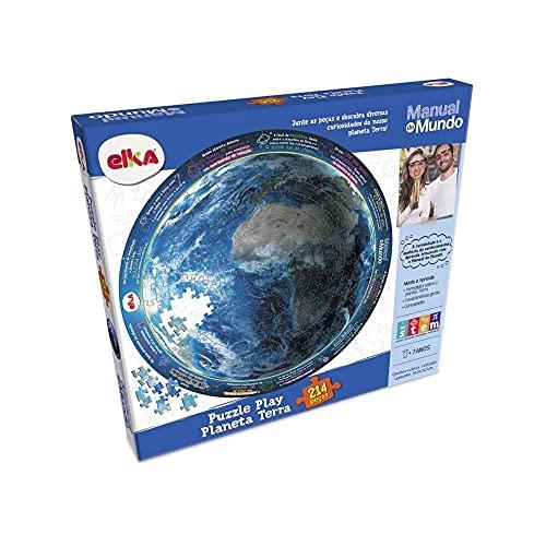 Puzzle Play Planeta Terra 214 peças - Manual do Mundo, Elka, Colorido