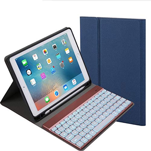 Detachable Bluetooth Keyboard + Horizontal Flip Leather Case With Holder & Colorful Backlight For IPad Pro 9.7 Inch, IPad Air, IPad Air 2, IPad 9.7 Inch (2017), IPad 9.7 Inch (2018) WEEXIZHIGUANGLIYA