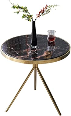 Coffee Tables Side Table Tea Table Living Room Bedroom Small Round Table Marble Coffee Table Sofa Side Industrial End Table E