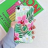 Herbests Kompatibel mit iPhone XR Hülle Silikon Handyhülle Mode Blätter Blumen Muster Ultra Dünn...