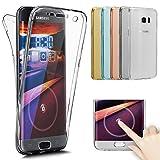 Kompatibel mit Galaxy S8 Hülle,Galaxy S8 Schutzhülle,Full-Body 360 Grad Klar Durchsichtige TPU Silikon Hülle Handyhülle Tasche Case Front Back Double Beidseitiger Cover Schutzhülle für Galaxy S8,Klar