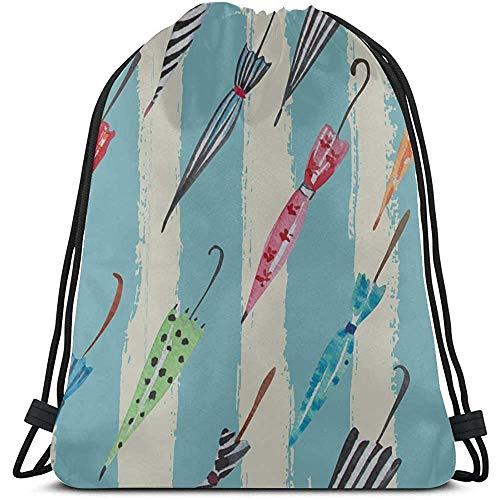 Haak paraplu comfortabele trekkoord tas polyester lazy make-up tas met trekkoord string rugzak voor jongens voor fitnessstudio reizen