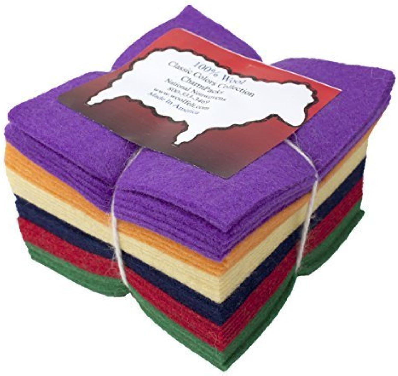 Precio por piso 36 5  Squares 100% Wool Felt Felt Felt Classic Bright Charm Pack by National Nonwovens  descuento de ventas en línea