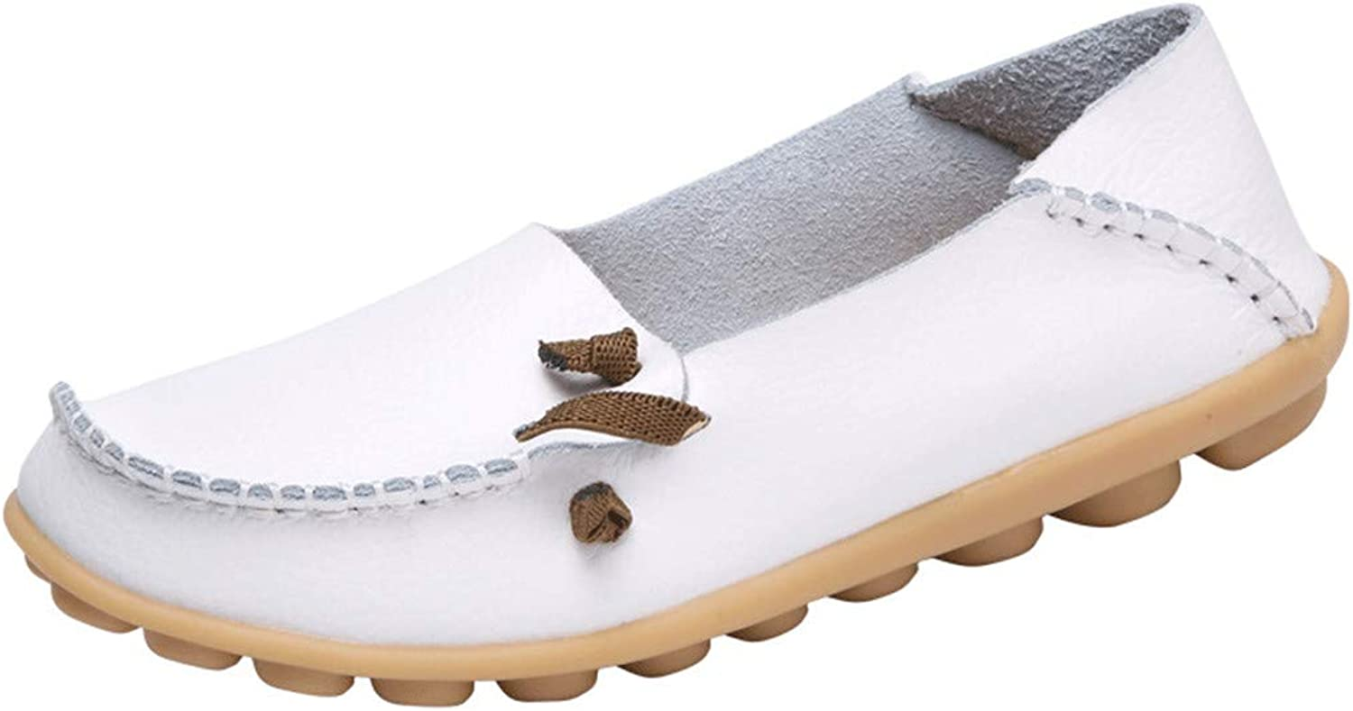 Genuine Leather shoes Women Flats Moccasins shoes women Soft Leather Loafers