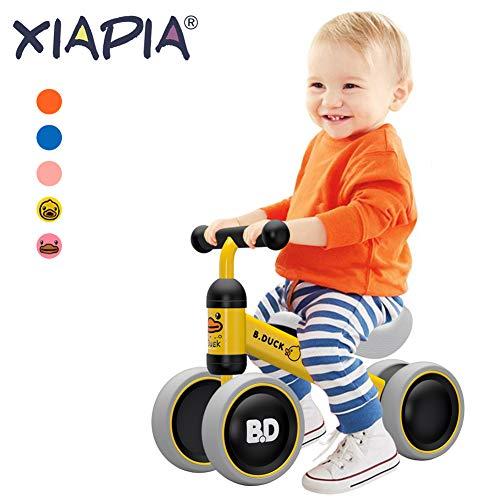 XIAPIA Bicicletta Senza Pedali, Bici per Bambini 1-2 Anni (10-24 Mesi), Camminatore dei Bambini,Bicicletta Equilibrio Giocattoli per per 1 Anno Bambino,Anatra Gialla