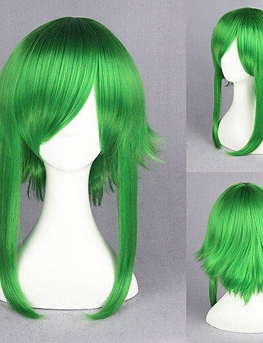 Simple and convenient Perruques cheveux européens 55 cm Vocaloid Gumi de verts Anime Cosplay perruque