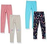 Marca Amazon - Spotted Zebra 4-Pack Leggings, Skate, XX-Large (14-16 años) para Niñas