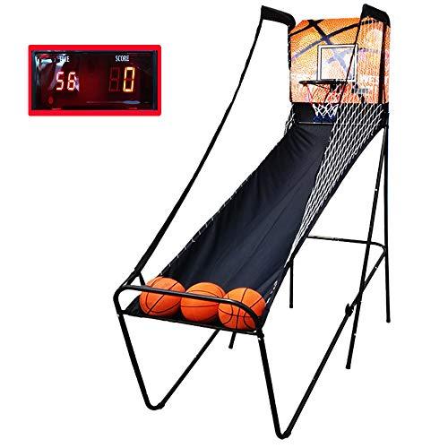 Aly Basketballkorb Erwachsenen Basketball Arcade-Spiel Indoor/Outdoor Einzigen Elektronischen Score-Shooting-System Faltbar