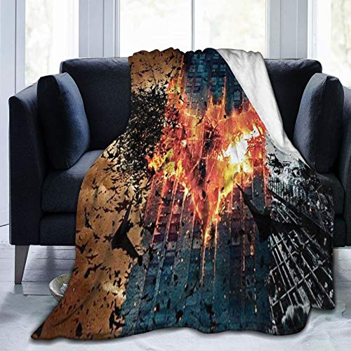 Why So Serious Joker Batman - Manta de forro polar ultra suave, cálida y acogedora manta de felpa, para sofá cama, sofá cama, 125 x 150 cm