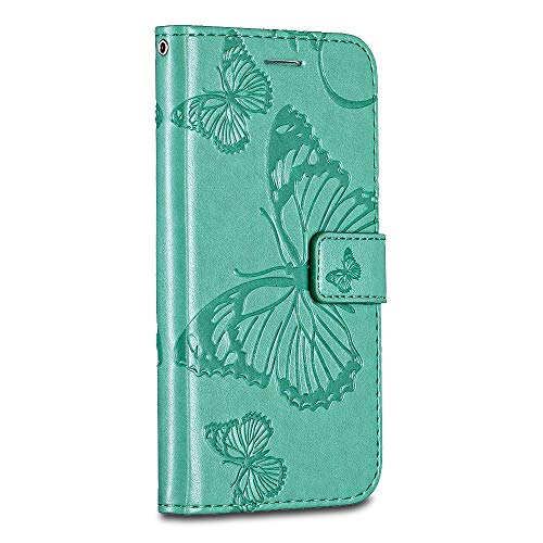 Huawei P8 Case Cover, Casake [High Quality Pu Leather] [Card/ID Holder] [Wallet Flip Case] [Drop Proof] For Huawei P8 Case -Green