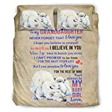 Colcha edredón para mi nieta oso polar suave hogar europeo patrón gris color cama doble blanco 240x264cm