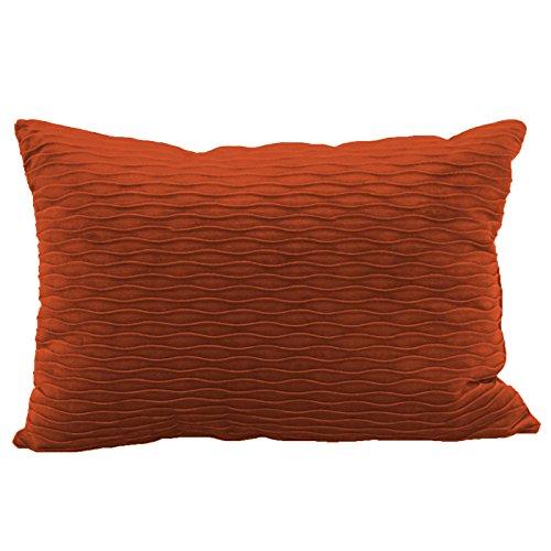 Brentwood Originals Ripple Pillow, Rust