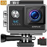Campark V20 Caméra Sport Véritable 4K Ultra HD 20MP WiFi Appareil Photo EIS Anti-Shake Caméscope Étanche 40M avec 2 Batteries et Kits d'Accessoire