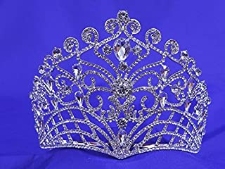 Large Pageant Rhinestone Crystal Tiara Queen P888