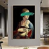 qianyuhe Lustige Kunst Leonardo Da Vinci-Die Dame mit einem