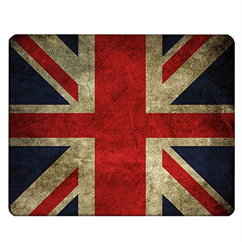 Nicokee Flag Gaming Mousepad Vintage United Kingdom Union Jack Flag British Flag Mouse Pad Rectangle Mouse Mat for Computer Desk Laptop Office 9.5 X 7.9 Inch Non-Slip Rubber