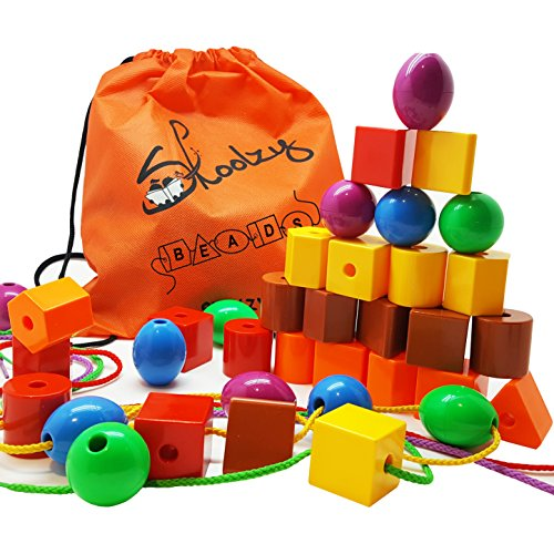 Skoolzy Lacing Beads for Kids Toddler...