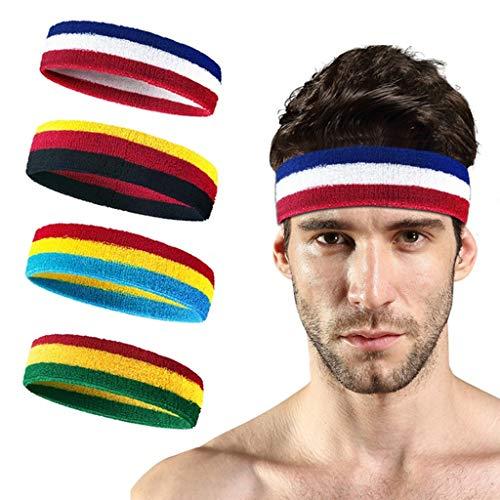 Turbobm Trainings- und Fitness-Armbänder, gestreiftes Schweißband am Handgelenk, Schweißband und Stirnbänder am Handgelenk, feuchtigkeitstransportierendes, schweißabsorbierendes Stirnband