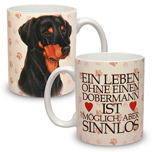 Kaffeebecher mit Motiv Hund Große XXL Tasse Dobermann