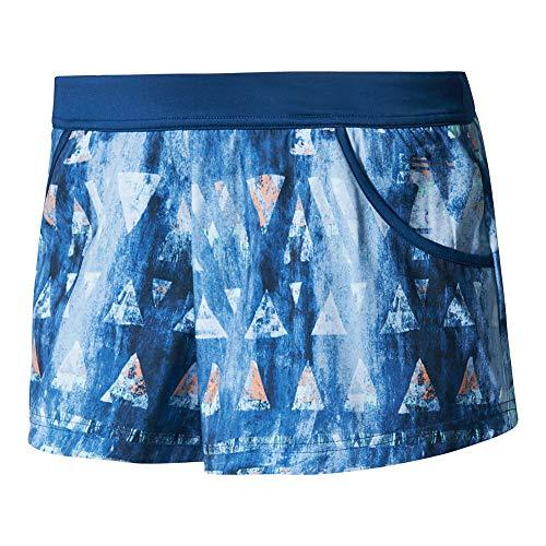 Adidas - Pantaloncini da tennis Melbourne, da donna, Donna, Mistero Blu Glow Arancione, X-Large