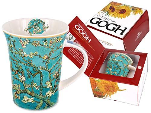 Carmani - Tazza in porcellana decorata con fiori di mandorle di Vincent Van Gogh, 350 ml