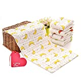 KOROTUS Muslin Baby Burp Cloths Washcloths Face Towels 5-Pack Extra Large 10 X 20 inches 6...