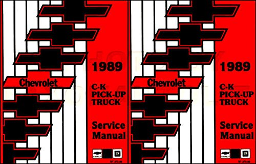 STEP-BY-STEP 1989 CHEVY C/K TRUCK & PICKUP FACTORY REPAIR SHOP & SERVICE MANUAL - Covers all C & K Series Pickup, 1500, 2500, 3500, Extended Cab, Dually - CHEVROLET