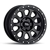 RockTrix RT111 17 inch Wheel Compatible with 01-21 Toyota Tacoma 6x5.5' (6x139.7) Bolt Pattern, 17x9 (-12mm Offset), 106.1mm Bore, Matte Black, Also fits 02-21 4Runner, FJ Cruiser, 99-06 Tundra - 1pc