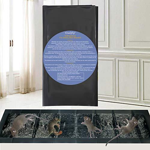 Toulifly Trampas para Ratones,Trampas para Ratas,Ratonera para Ratones,Rat Trap,Trampa Adhesiva para Ratas,Fácil de Usar Ratón Adhesivas para Ratoncillos y Rata,120cm x 27cm