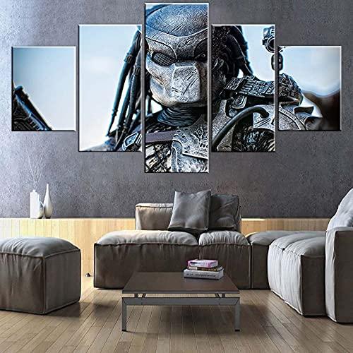 Póster moderno de 5 piezas de Alien Vs. Depredador, para pared, póster e impresiones de pared para sala de estar (tamaño 2)