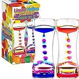 YUE MOTION Liquid Motion Bubbler Visual Sensory Timer, 2 Minute Liquid Timer– New Big Calming Sensory Bubbler Toy (Pack of 2)