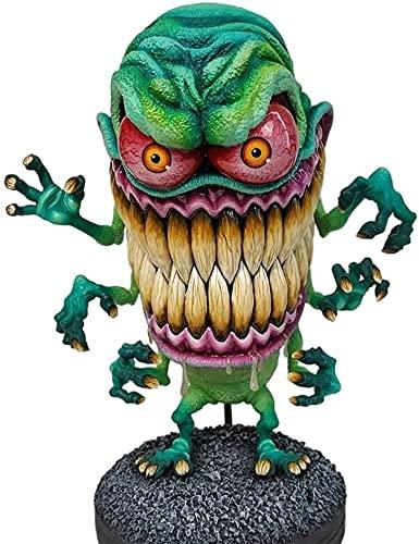 Angry Big Mouth Monster Halloween divertido modelo de resina regalo decoración de escritorio Tamaño: 15 * 8 cm