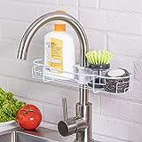 Sink Organizer - Faucet Sponge Holder Dish Cloth Hanger Bathroom Faucet Rack,Faucet Storage Rack Hanging Shower Caddy, Bathroom Storage Basket (Faucet Sponge Holder Blue)