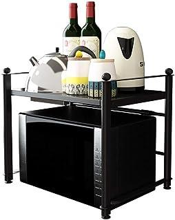 LINPAN Rangement Cuisine Organisateur étagère Fournitures de Cuisine en Acier Inoxydable étagère de Rangement 2 Niveau Ust...