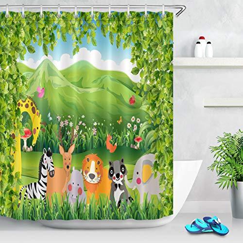Magenta Duschvorhang Stoff Badezimmer Dekor