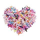 Artibetter 200 pz mini nastro di raso fiori fiocchi regalo fai da te decorazione di cerimo...