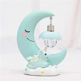 Lumière de nuit de lune de licorne, Fantes lampe de nuit de dessin animé de lumière de nuit de LED pour le cadeau d'annive...