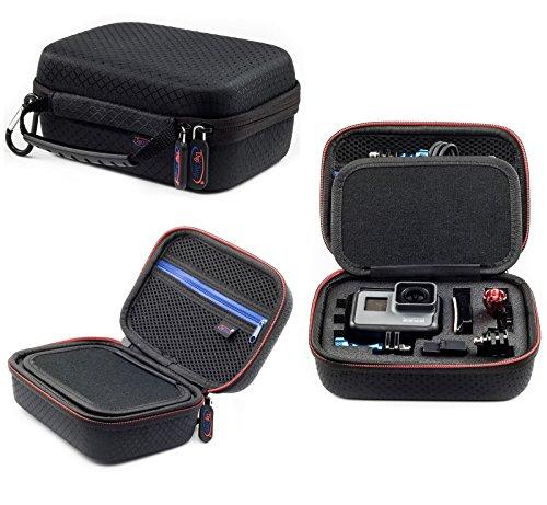 Digicharge® Kamera Zubehör Tasche für Action Kamera Cam Kleine Gr. XS (17X13X7cm) Tragetasche für Gopro Hero9 Hero8 Hero7 Hero 6 5 4 3 2 Garmin VIRB Apeman Sony Xiaomi Yi Camkong Motorola Akaso Nikon