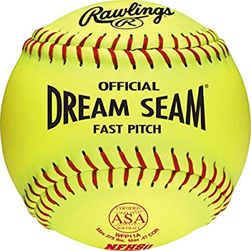 Rawlings Official Dream Seam ASA Fast Pitch Softball, WFP11A - Pack of 12
