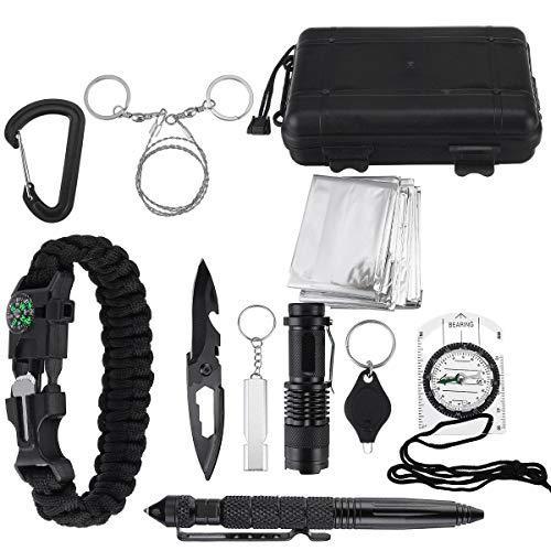 Select Zone Kit de supervivencia multifunción SOS para camping, supervivencia al aire libre, táctica, senderismo, multiherramientas.