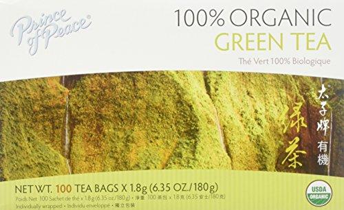Prince Of Peace, Tea Green Organic, 100 Count