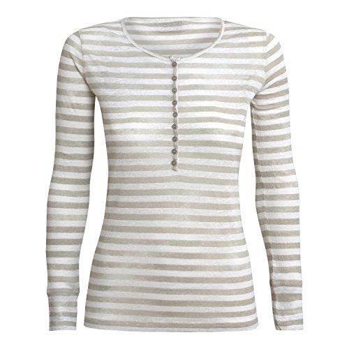 Blaumax Damen Longsleeve Moscow Stripe Farbe beige - Größe XL
