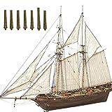 Tianbi Modello di Barca a Vela in Legno Kit Modello di Assemblaggio Nave Fai da Te Barche a Vela in Legno Classiche Decorazione Modello in Scala Kit Modello di Barca in Legno per Adulti