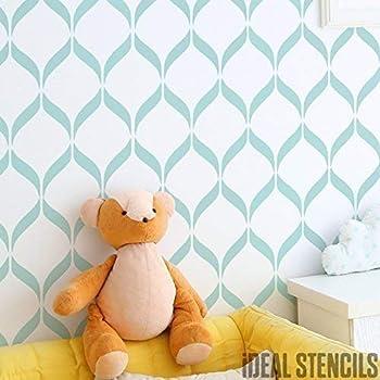 Schmetterling Tapete Schablone Kinderzimmer Farbe Wände Stoffe Möbel Ideal