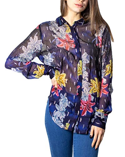 Desigual Cam_Ferrara Camicia da donna blu navy S