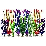 Jeromeki Juego de 10 Plantas AcuáTicas Artificiales de PláStico para DecoracióN de Acuarios de Colores Surtidos